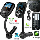 Wireless Bluetooth Car MP3 Player FM Radio Transmitter LCD SD USB Charger Kit