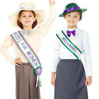 Suffragette Girls Fancy Dress World Book Day Dickens Childrens Kids Costumes New