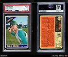 1966 Topps #545 Dick Green Athletics PSA 7 - NM