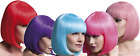 Ladies Professional Quality Bright Short Bob Blunt Cut Fringe Fancy Dress Wig