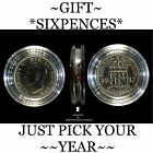 "BIRTHDAY,ANNIVERSARY CARD"" NOVELTY, LUCKY SIXPENCE,1947-1967,IDEAL SMALL GIFTS"