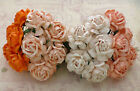 20 x TEA ROSES 40mm MULBERRY PAPER FLOWERS Cardmaking & Craft Embellishments