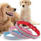 Synthetic Leather Dogs Pets Harness Shiny Rhinestone Pet Collar EN24H 02