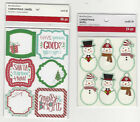 U CHOOSE Assorted Recollections CHRISTMAS flat Stickers tags snowmen