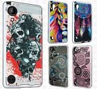 For HTC Desire 555 Brushed Metal HYBRID Rubber Case Phone Cover +Screen Guard