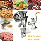 Safe Meat Grinder Mincer Manual Kitchen Food Mincer Hand Sausage Stuffer Silver