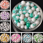NEW 15pcs 10mm Round Glass Loose Spacer Beads Jewelry Making Findings DIY
