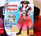 Pretty Pirate Red Black Child Costume Hat S M L NIP