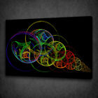 COLOURFUL ABSTRACT SWIRLS BOX MOUNTED CANVAS PRINT WALL ART PICTURE PHOTO