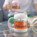 Cute Cat Glass Personality Milk Mug With Infuser Office Coffee Tumbler Breakfast