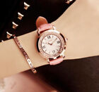 Fashion Glossy Crystal Women Wristwatch Student Girls Leather Strap Quartz Watch <br/> Hot Sale !!! High Quality,Drift Beads Bracelets Watch !