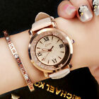 Fashion Glossy Crystal Women Wristwatch Sudtent Girls Leather Strap Quartz Watch