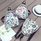 Women Synthetic Leather Casual Floral Print Square Zipper Backpack N4U8