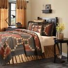 4pc Maisie Country Primitive Stars Floral Farmhouse Quilt Shams Pillow Bed Set