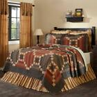7pc Maisie Country Primitive Quilt Shams Euro Pillow Skirt Bed Set Vhc Brands