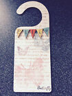 PERSONALISED WOOD DOOR HANGER HEARTS BUNTING FLOWERS BUTTERFLY HAND CRAFTER NEW
