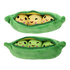 3 Peas in a Pod Pea Bean Pillow Emoticon Decorative Soft Stuffed Toy Kids Gift