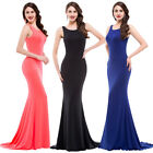 MERMAID PROM Women Lady Long Dress Formal V Neck Wedding Cocktail Party Evening