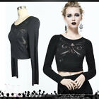 goth visual madam papillon engraved butterfly wings cropped tshirt【TT086】