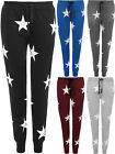 New Womens Star Print Stretch Pocket Jogging Pants Trousers Ladies Joggers