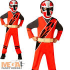 Red Ninja Steel Power Rangers Boys Fancy Dress Superhero Childrens Kids Costume