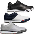 Under Armour Mens 2018 UA Tempo Hybrid 2 Spikeless Leather Lace up Golf Shoes