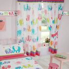 "GIRLS BEDROOM CURTAINS 66"" x 72"" - UNICORNS  PONIES  FLAMINGOS  STARS & MORE"