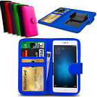 For Lenovo Vibe C2 Clip On PU Leather Flip Wallet Book Case Cover