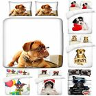 3D Digital Printing Dogs Art Photo Print Duvet Quilt Covers With Pillowcases