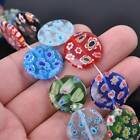 Millefiori Lampwork Glass Loose Spacer Beads Charms Findings Random Mixed Colors