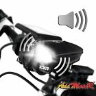 Addmotor LED Bike Headlight USB Rechargeable Bicycle Cycling Flashlight Horn Kit