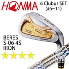 HONMA GOLF JAPAN BERES IS-06 IRON SET #6~11 (6 clubs) ARMRQ X 4S 2018 / 091802