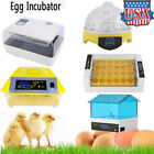 Digital Egg Incubator Automatic Turning 4 - 56 Eggs Poultry Hatcher Chicken Bird
