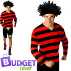Dennis the Menace Mens Fancy Dress Beano Comic World Book Day Adults Costume New