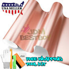 *Premium Rose Gold Satin Chrome Matte Metallic Vinyl Wrap Sticker Air Release