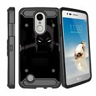 For LG Risio 2 | LG Rebel 2 | LG LV3 (2017) Dual Layer Case with Kickstand