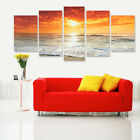 5Pcs Sea Sunset Landscape Canvas Print Art Painting Picture Home Room Wall Decor