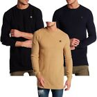 Mens Soulstar Ribbed Solid Knit Jumper Sweatshirt Long Sleeve Top Size