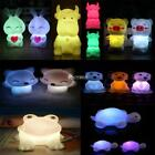 Cute Animal Shaped LED 7 Color Changing Night Light Lamp Room Decor Kids Gift DZ