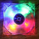 120mm 4 Pin PC CPU Cooling Fan Computer Clear Case Quad 4 LED Light 9-Blade 12cm