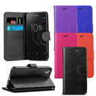 For Sony Xperia XA1 Case - Premium Leather Wallet Flip Case Cover + Protector