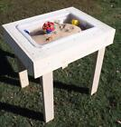 NEW CHILD'S WOOD SAND BOX / WATER SENSORY PLAY TABLE - 30...
