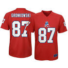 ROB GRONKOWSKI BOYS XL Patriots Red Throwback Polyester Performance Jersey