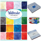 MODA Watercolour blender fabrics 100 % cotton, charm pack jelly roll layer cake