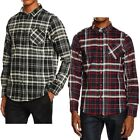 Mens Brave Soul Brushed Cotton Flannel Lumberjack Check Long Sleeve Shirt Size