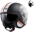 LS2 OF599 Spitfire Inky Open Face Motorcycle Helmet Motorbike Urban City Crash