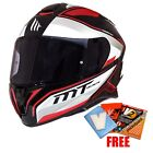 MT Targo Red Interact Full Face Motorcycle Motorbike Scooter Helmet, Crash Lid