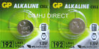 GP LR41 192 AG3 392 SR41 1.5v Alkaline Batteries Use By Expiry Date 2020