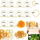 10 Sizes Yellow Natural Rubber Strong Elastic Bands 1.4mm Width Eco Quality