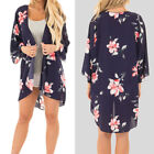2018 Women Floral Plus Size Cardigans Shirt Ladies Oversize Thin Shirt Kimono US